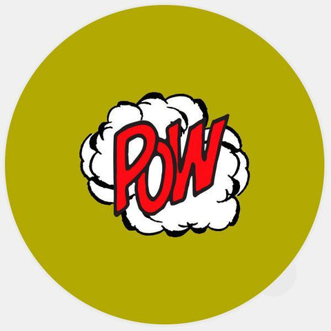 "glowing ""pow"" macbook sticker by tabtag"