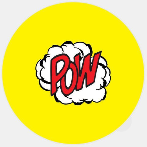"""pow"" glowing macbook sticker by tabtag"