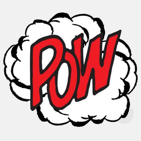 "opaque ""pow"" reusable macbook sticker by tabtag"