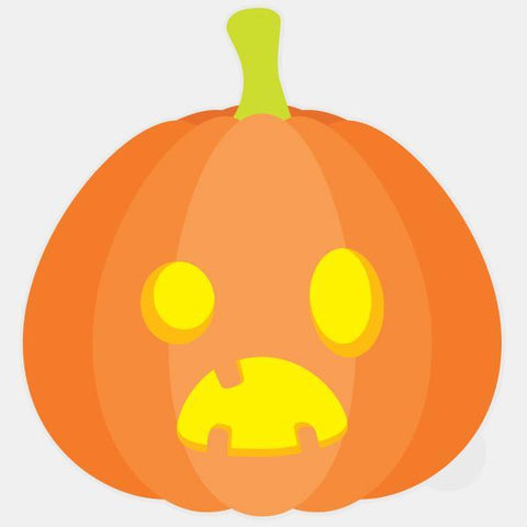 """pumpkin"" glowing macbook sticker by tabtag"