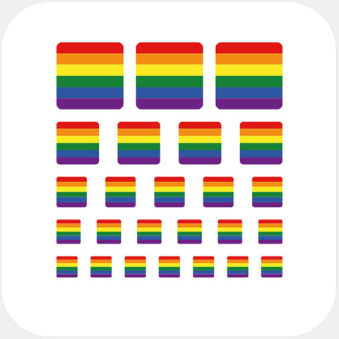"""rainbow flag"" reusable privacy sticker set by tabtag"