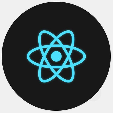 "glowing ""react"" macbook sticker by tabtag"