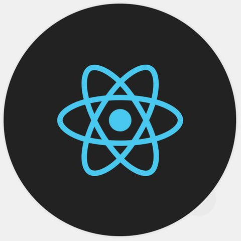 """react"" glowing macbook sticker by tabtag"