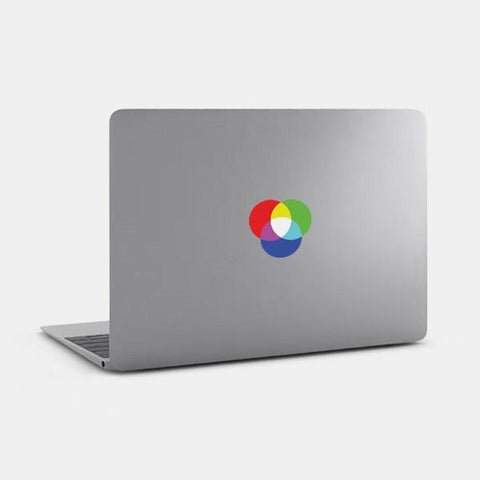 "opaque ""rgb"" reusable macbook sticker on a mac by tabtag"