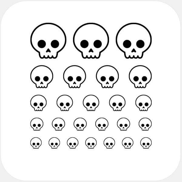"""skull"" reusable privacy sticker set by tabtag"