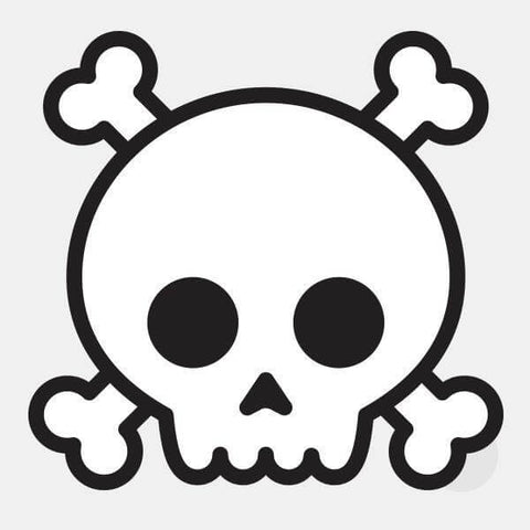 "opaque ""skull"" reusable macbook sticker by tabtag"