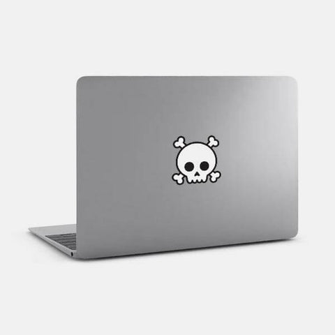 "opaque ""skull"" reusable macbook sticker on a mac by tabtag"