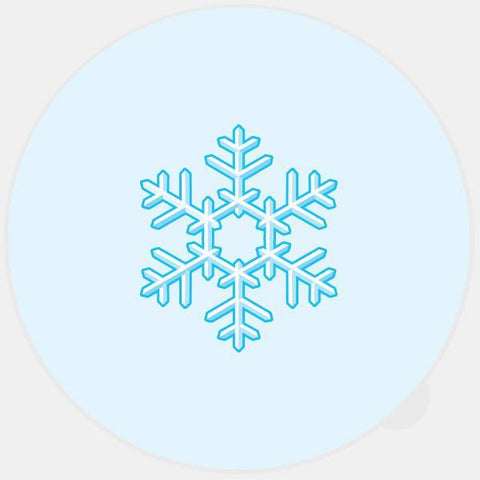 """snowflake"" glowing macbook sticker by tabtag"