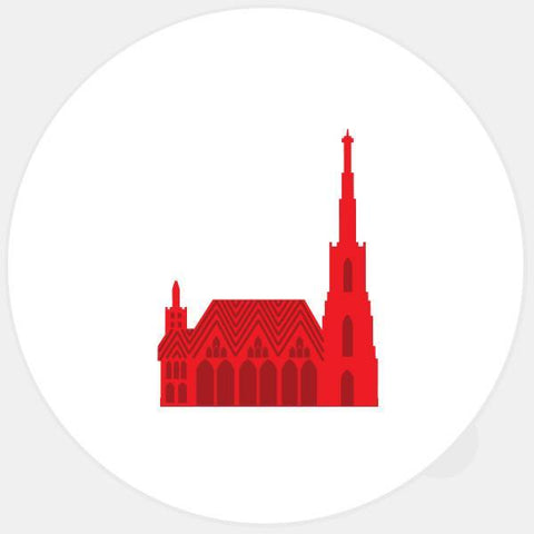 """st. stephen's cathedral"" glowing macbook sticker by tabtag"