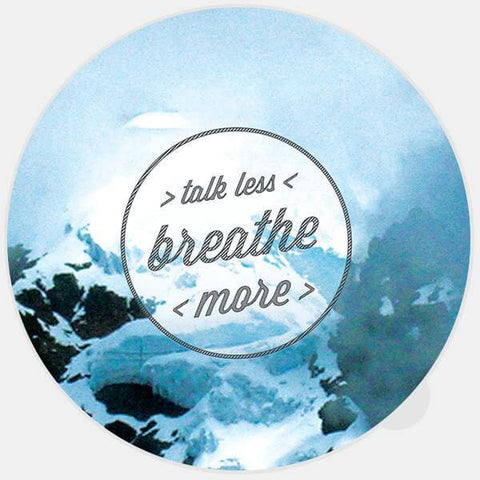 """talk less / breathe more"" glowing macbook sticker by tabtag"