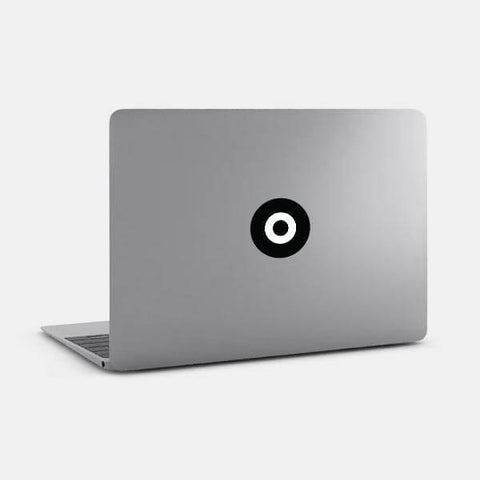 "opaque ""target"" reusable macbook sticker on a mac by tabtag"