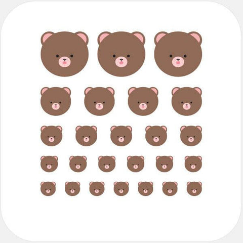 """teddy bear"" reusable privacy sticker set by tabtag"
