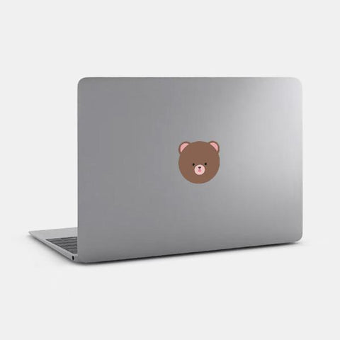 "opaque ""teddy bear"" reusable macbook sticker on a mac by tabtag"