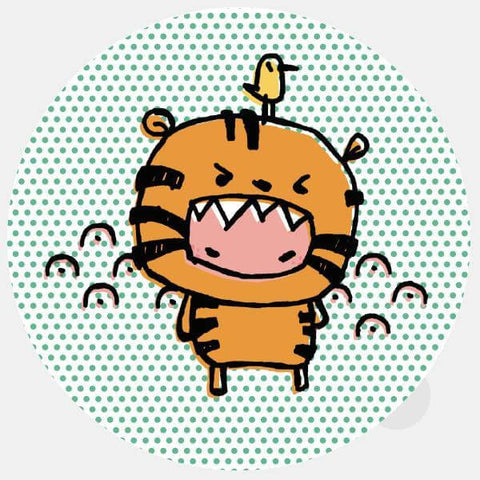 """tiger costume"" opaque reusable macbook sticker by tabtag"