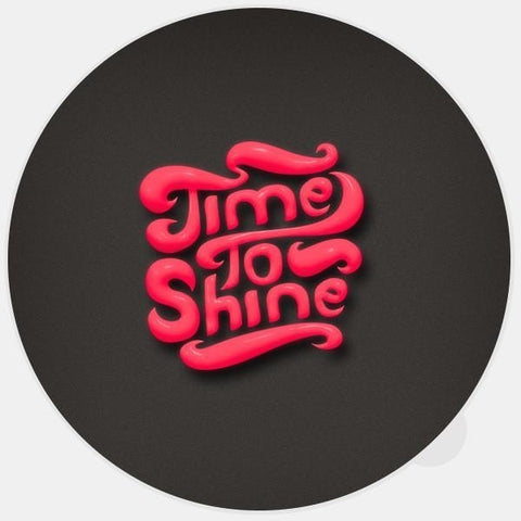 "glowing ""time to shine"" macbook sticker by tabtag"