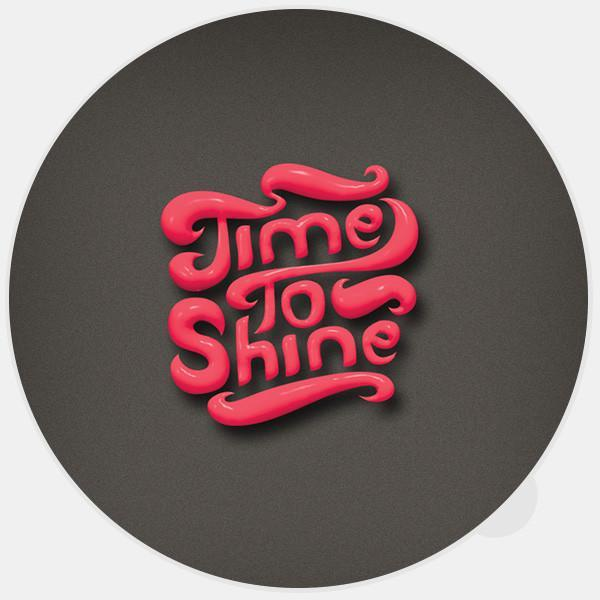 """time to shine"" glowing macbook sticker by tabtag"