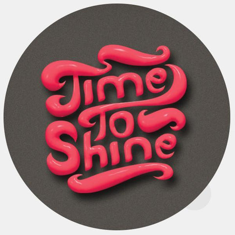 """time to shine"" reusable opaque macbook sticker by tabtag"