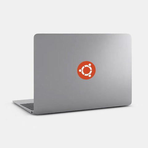 """ubuntu"" reusable opaque macbook sticker on a mac by tabtag"