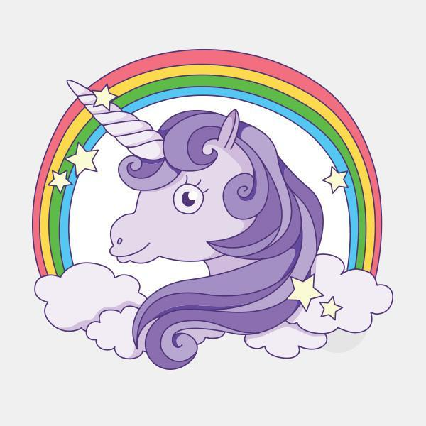 """unicorn"" die cut reusable opaque macbook sticker by tabtag"