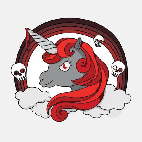 """unicorn of death"" die cut reusable opaque macbook sticker by tabtag"""
