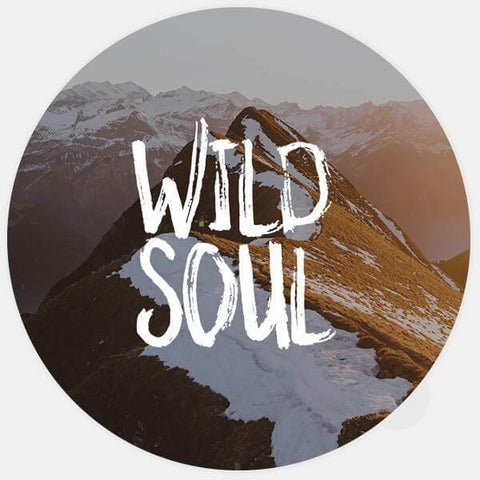"glowing ""wild soul"" macbook sticker by tabtag"
