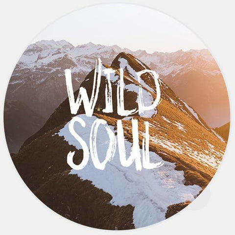 """wild soul"" glowing macbook sticker by tabtag"