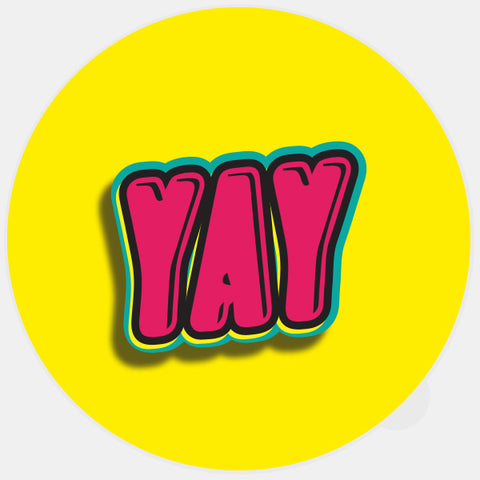 """yay"" glowing macbook sticker by tabtag"