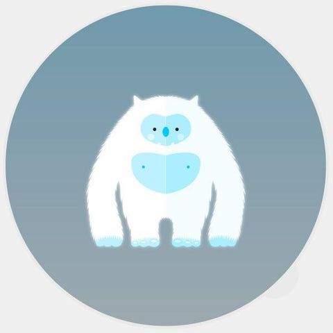 "glowing ""yeti"" macbook sticker by tabtag"