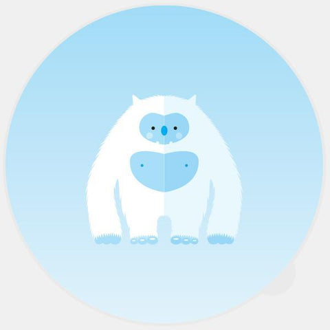 """yeti"" glowing macbook sticker by tabtag"
