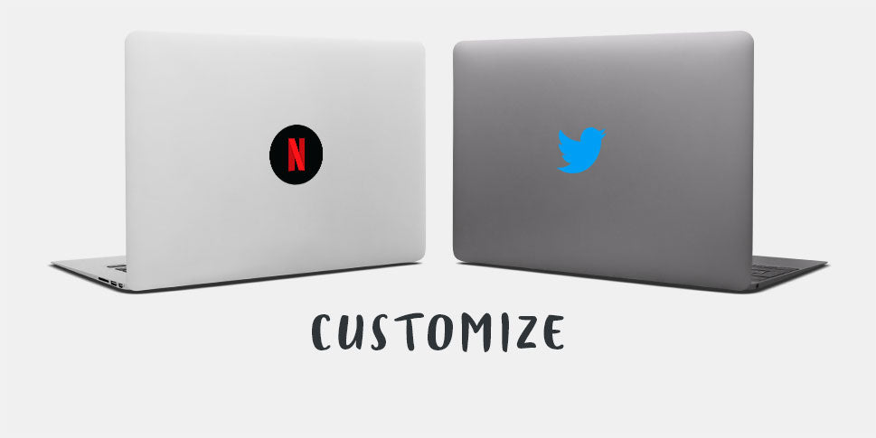 macbooks with reusable macbook decals