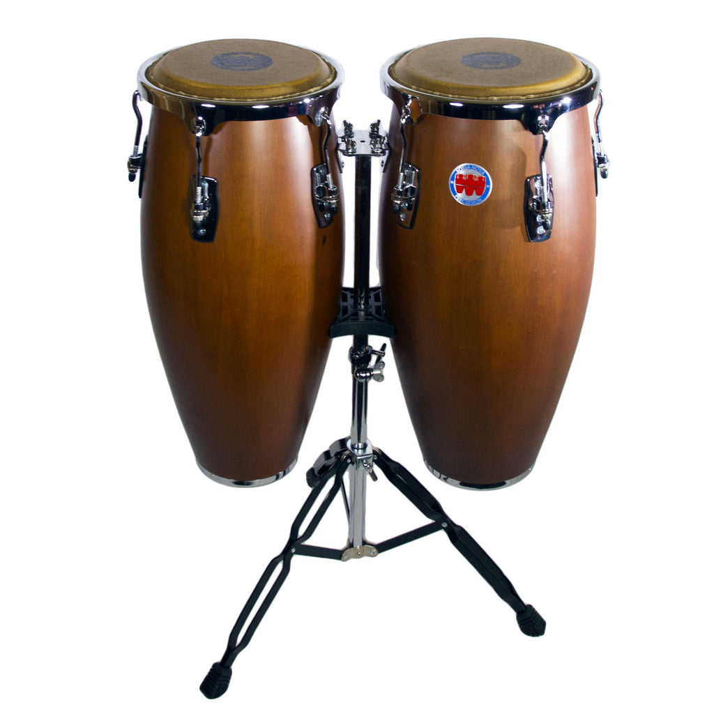 Mambo Series Congas in Mahogany Finish