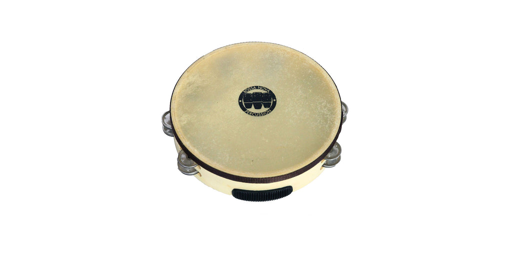 Two Row Deluxe Headed Tambourine - 10""