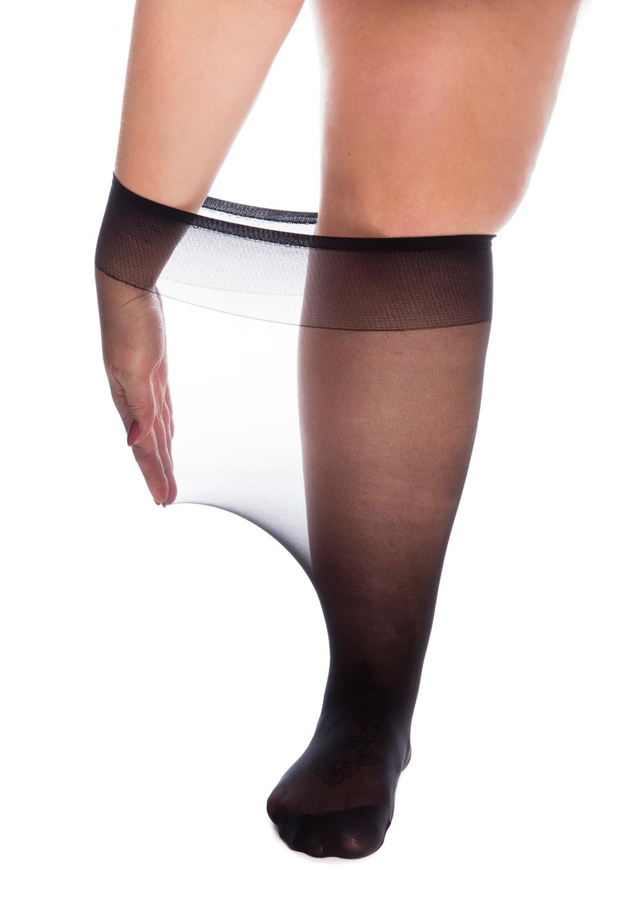All Woman SuperWide 20 denier knee highs