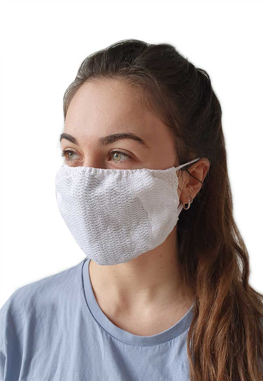 Large washable face mask with silver fibre