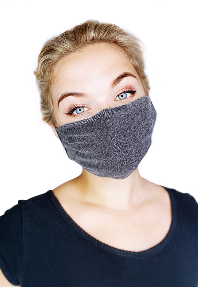 Organic cotton washable face masks (pack of 2)