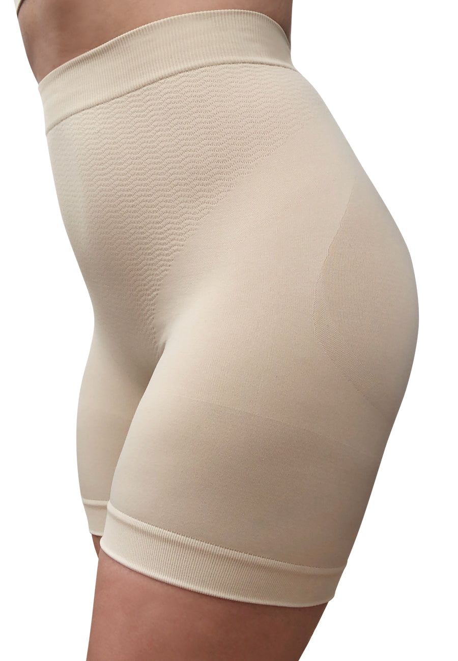 Anti chafing slip shorts with light support