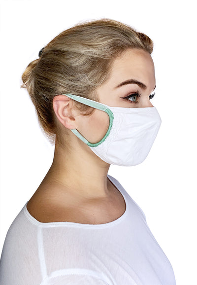 Double layer washable face mask with pocket