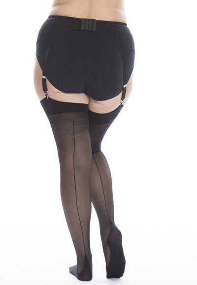 Magic stockings with back seam