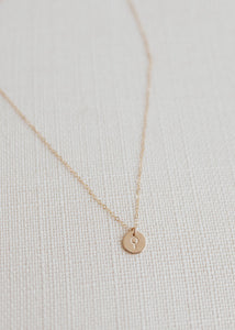 Woman Disc Necklace - 3/8""