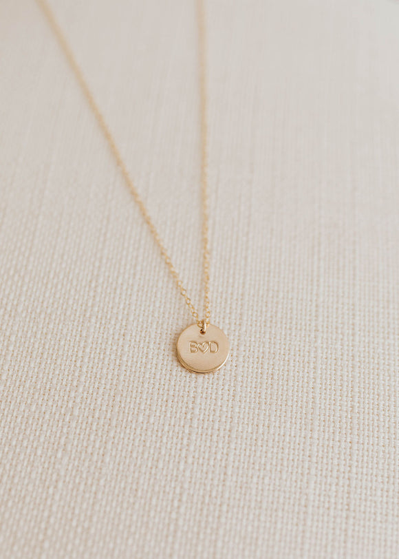 Amore Disc Necklace - 1/2
