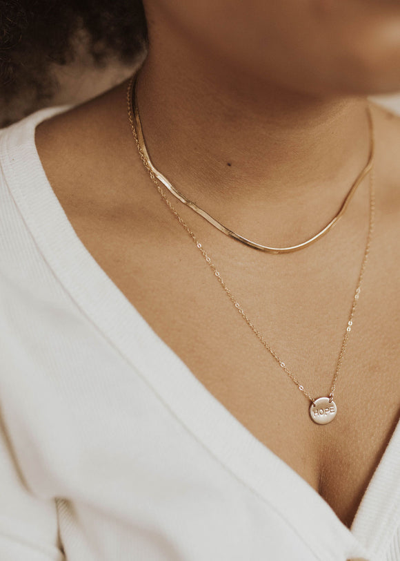 Hope Disc Necklace - 1/2