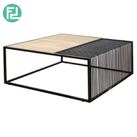 REAL COFFEE TABLE – CIGAR BLACK FRAME