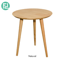 ULLAM END TABLE – SOLID WOOD – WITH NATURAL / WALNUT COLOUR