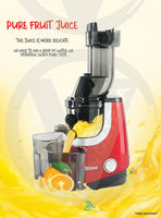 Riino 200W Cold Press Slow Juicer with XL Feeder Tube & Reverse Function - SJE003