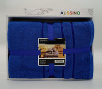 Aussino Bath - 4 pieces Towel Set (Navy Blue)