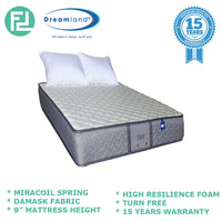 "Dreamland Chiro Essential IV 9"" Single Size Mirocoil Spring Mattress"