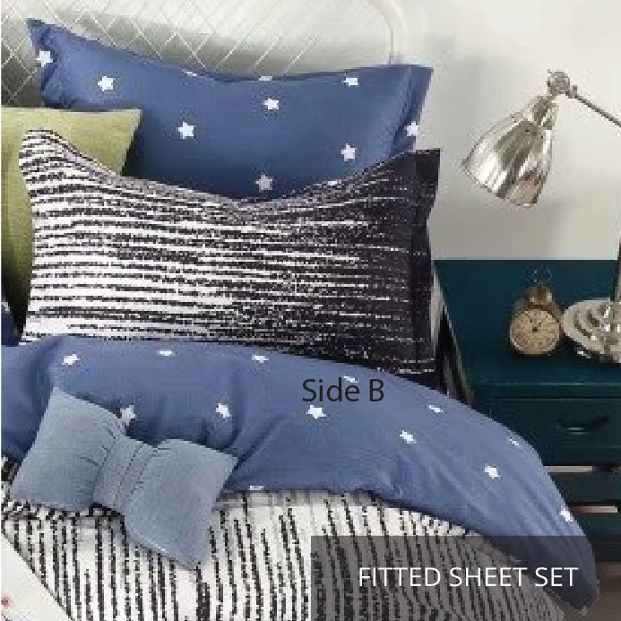 Relax Dwight Fitted Sheet Set / Quilt Cover Set