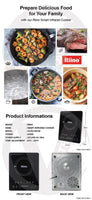 Riino 2000W Smart Infrared Cooker With 6 Preset Setting & Black Crystal Panel