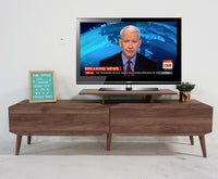 MAJA 5 FEET TV CABINET WITH 2 DRAWERS – WALNUT
