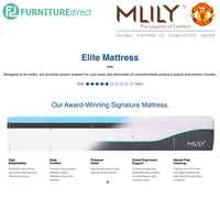 MLILY 10″ Elite Bamboo Charcoal Memory Foam Mattress - King Size
